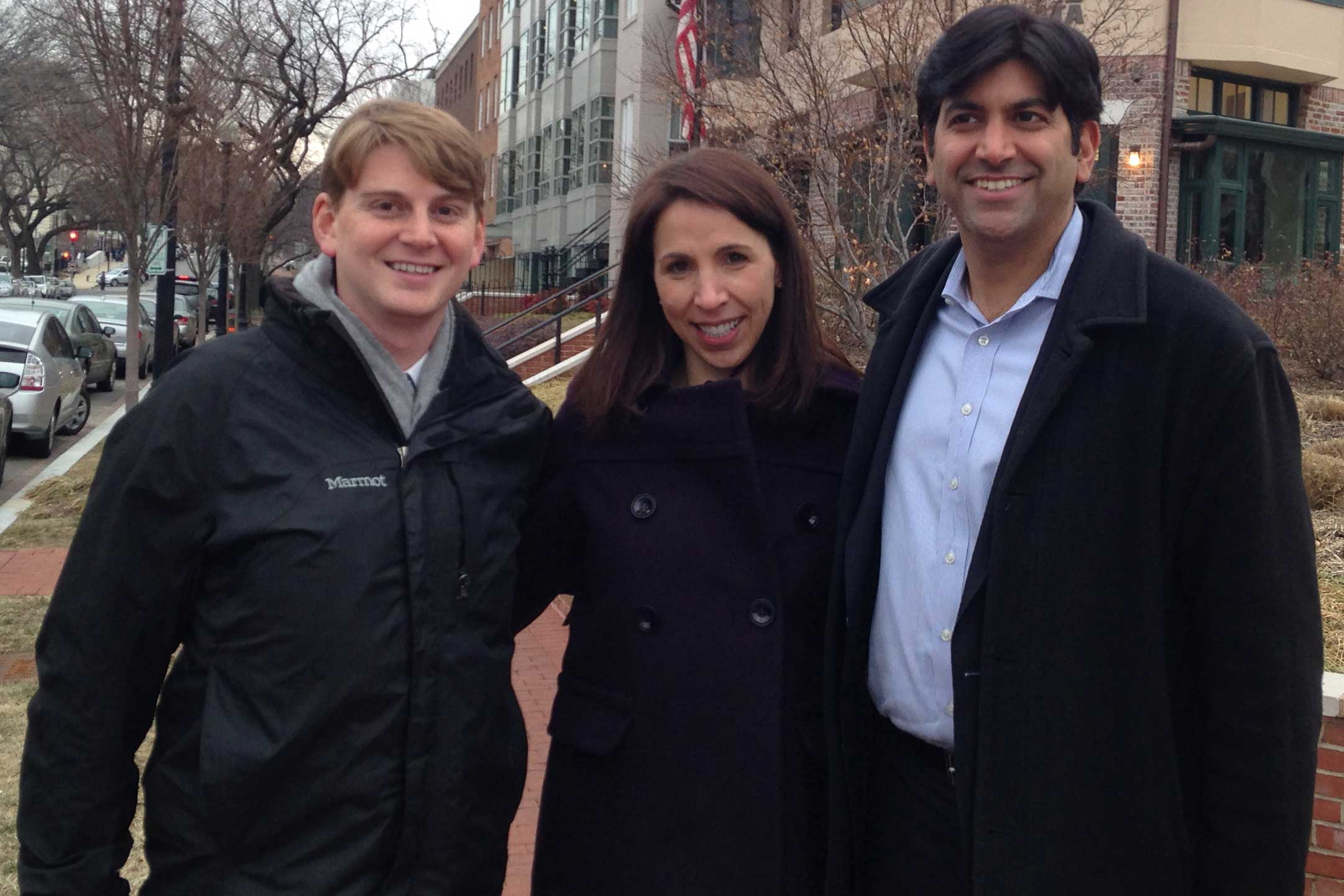 Nate Hundt, Leighanne Levensaler and Aneesh Chopra in Washington