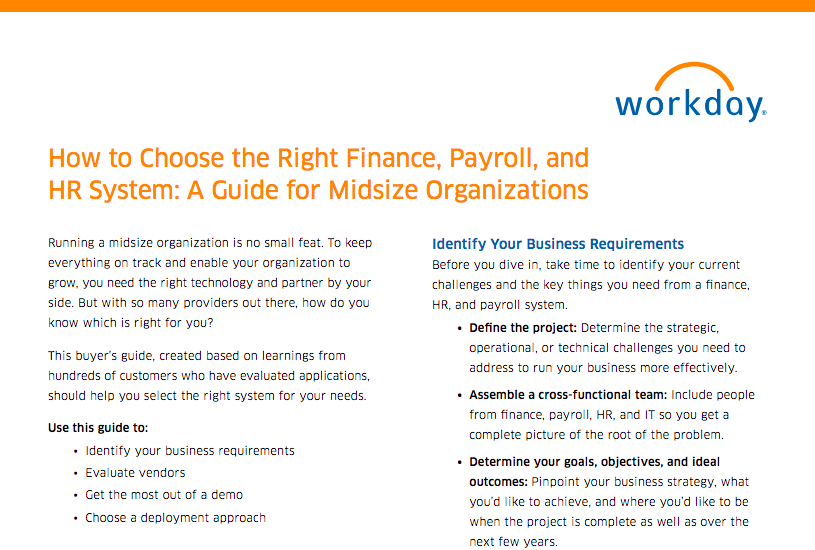 How to Choose the Right Finance, Payroll, and HR System: A Guide for Midsize Companies