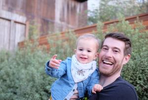 Erik Hansen and his son